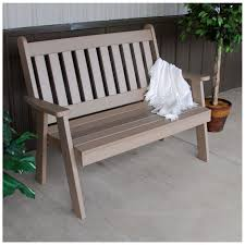 english garden bench. a\u0026amp;l furniture 4 ft poly traditional english garden bench - pertaining