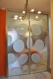 doppia scorrevole interno muro mitika 45 alluminio vetrate con decoro bolle vetro satinato maniglie x11