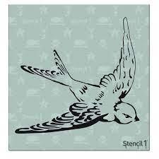 swallow stencil reusable craft diy