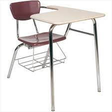 student chair desk combo comfy 3000 series long arm school desk w book rack virco