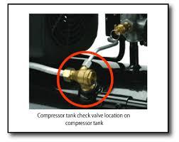 compressor tank check valve