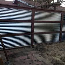 Corrugated Metal Privacy Fence Design Metal Privacy Fence Home Depot