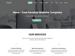 Parallax Website Template Gorgeous Mate Free Parallax Bootstrap HTML Website Template By UIdeck