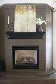 Gray Brick Fireplace Painted Brick Fireplace Ideas Rockdov Home Design