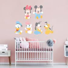 disney baby mickey friends large officially licensed removable wall decal fathead wall decal