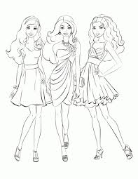 Small Picture Barbie Fashion Fairytale Coloring Pages Printable Barbie Fashion