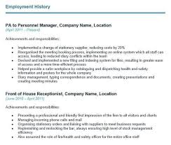 cv work history examples how to write your cvs employment history section with examples