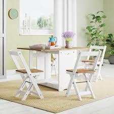 features romantic space saving folding. Southchase Folding Dining Set With 4 Chairs Features Romantic Space Saving Folding