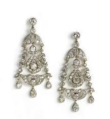 antique diamond drop earrings chandelier victorian 1880 fine jewellery