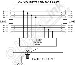 outdoor 10 100 base t cat5 lightning surge protector screw diagram