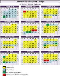 Carshalton Boys Sports College - Term Dates