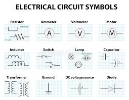 common circuit diagram symbols stock vector illustration of circuit diagram download common circuit diagram symbols stock vector illustration of capacitor, graphic 68934130