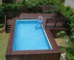 Rectangular above ground pools with wooden decks Dream Home