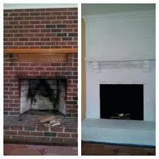 seemly fireplace brick painting painting brick fireplace painted brick fireplace before and after pictures