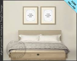 Bedroom Styled Interior 5 | Set Of 2 Wood Frame Mockup | 8x10 11x14 Frame |