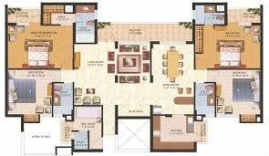 Nice Decor Luxury 4 Bedroom Apartment Floor Plans With Bedroom House Plans    Best Interior Decorating Ideas 3