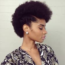 side hawk natural hairstyle on short um hair
