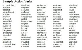 Good Action Verbs For Resumes Best Resume Collection Adorable Action Verbs Resume