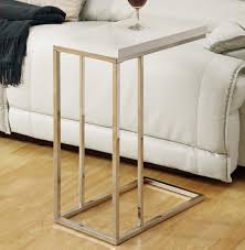monarch specialties 3008 rectangular accent table in chrome glossy white beyond s