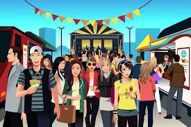 ilrated street food festival scene
