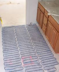 Heated Kitchen Floor Installing Heated Floors In Bathroom