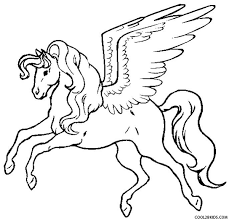 Printable Pegasus Coloring Pages For Kids Cool2bkids Horses