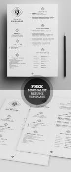 free minimalist resume template psd psd resume templates