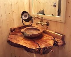 rustic wood sink design ideas