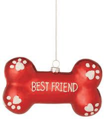 Dog Bone Best Friend Christmas Tree Ornament traditional-christmas- ornaments
