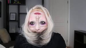 this upside down head scary halloween makeup is absolutely terrifying