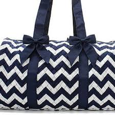 Shop Personalized Duffle Bag on Wanelo & Personalized Navy Chevron Quilted Duffle Bag Adamdwight.com