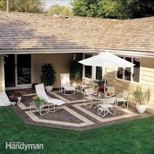 build a patio with ceramic tile