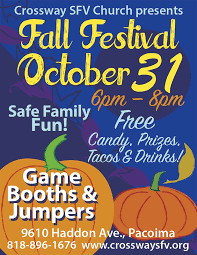 Fall Festival Flier Fall Festival 2019 Crossway Church Of The San Fernando