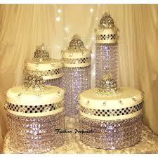 chandelier cake chandelier crystal waterfall rain all the way down set of 5 wedding diy crystal