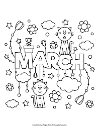 Spring Coloring Pages Ebook March Coloring Pages Spring