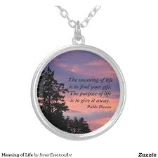meaning of life round pendant necklace