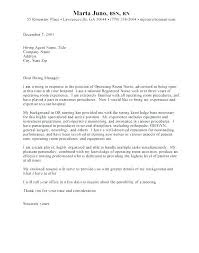Nursing Cover Letters Impressive New Rn Cover Letter Examples How To Write The Best Nursing Blog