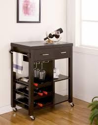Kitchen Bar Furniture Furniture Of America Audwin Cappuccino Kitchen Bar Cart Live