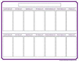 Plain Calendar Template Awesome 4 Week Schedule Of Great By Word ...
