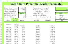 Credit Card Debt Excel Template Credit Card Log Template Excel Interest Calculator Images Of