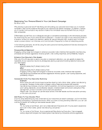 Examples Of Branding Statements For A Resume 12 13 Personal Branding Statement Sample Elainegalindo Com