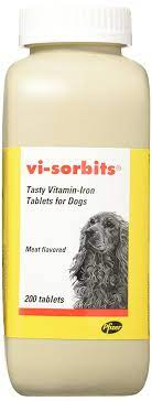 Pfizer VI-Sorbits Vitamin & Iron Supplement for Dogsmeat Flavored 200  Tablets- Buy Online in Bosnia and Herzegovina at bosnia.desertcart.com.  ProductId : 47060983.