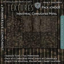 PRIMMERSIVE Textures Industrial Corrugated Metal ICM008