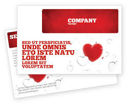 Microsoft Word Hearts Hearts Postcard Template In Microsoft Word Adobe Indesign