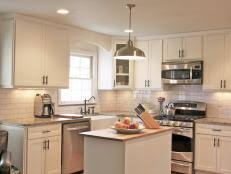 Modern white shaker kitchen Brushed Nickel Hardware Shaker Kitchen Cabinets 123rfcom Shaker Kitchen Cabinets Pictures Ideas Tips From Hgtv Hgtv