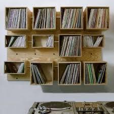 Wall Mounted Vinyl Record Storage Ideas