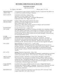 Ideas Of Chronological Order Resume Format Epic Reverse