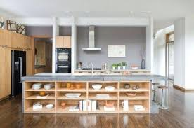 kitchen island shelves with and seating
