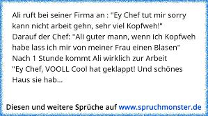 Ali Ruft Bei Seiner Firma An Ey Chef Tut Mir Sorry Kann Nicht