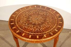 round coffee table inlaid marquetry moroccan uk